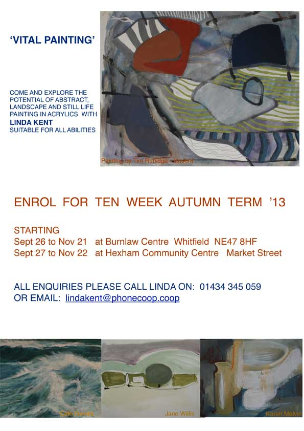 Vital Painting course flyer 2013